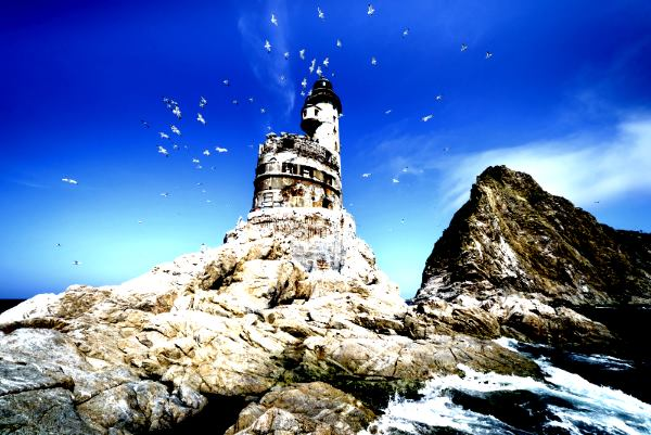 Japanese lighthouse on Sakhalin (a.k.k. Karafuto)