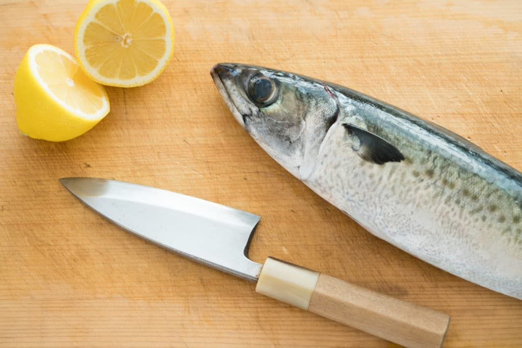 Knife and fish